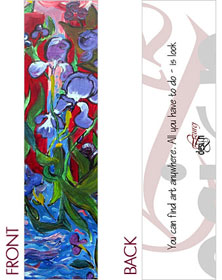 Floral Bookmark by Lizurej Design